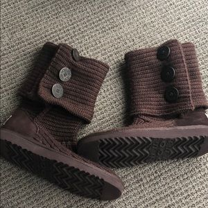 UGG Shoes - Basically New Brown Knit Ugg boots
